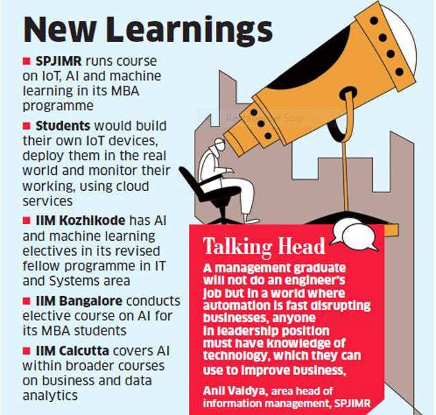 B Schools Ai Robotics Find Way Into B School Curriculum The