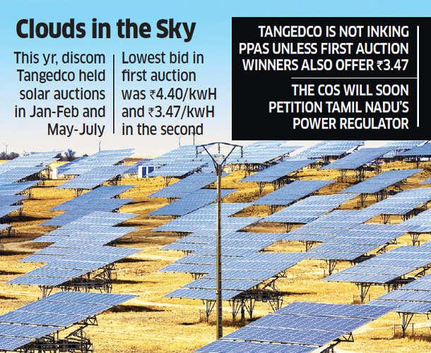 Tamil Nadu latest to push solar companies for post-auction tariff cut