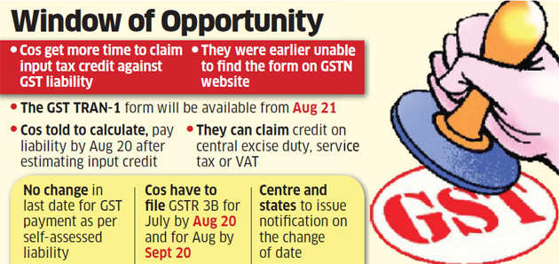 Govt extends GST return filing deadline for cos who want to claim credit for past taxes