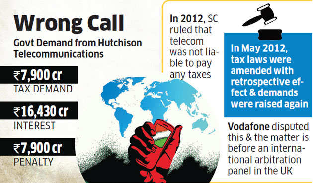 Income Tax department seeks Rs 32,320 crore from Hutchison over Vodafone deal