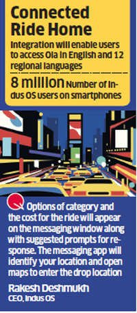 Indus OS partners Ola to extend on-demand services