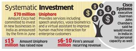 Cisco chairman John Chambers in advance talks to invest $5 million in Chennai-based Uniphore