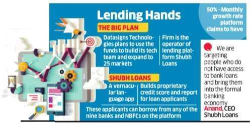 Datasigns Technology gets $1.5 million for its online lending platform Shubh Loans
