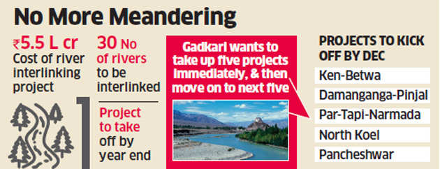Rs 5.5 lakh-crore river interlinking to take off by December