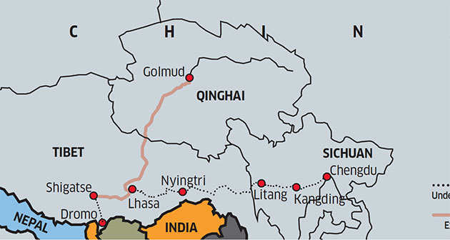 BilaspurLeh Line Indias Rail Counter To Chinas Border Game Is - Us map without border game