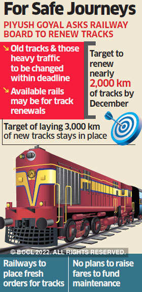 Railways to start its biggest track renewal exercise