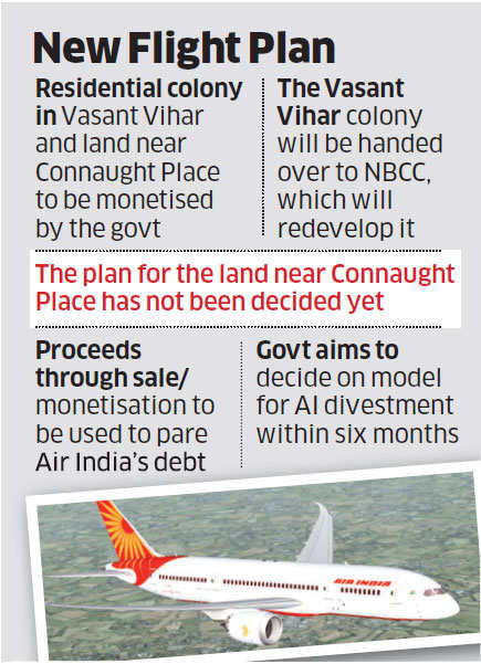 Government to sell its properties leased to Air India