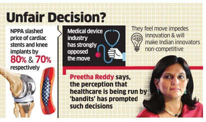 Price caps hurting healthcare industry, says Preetha Reddy