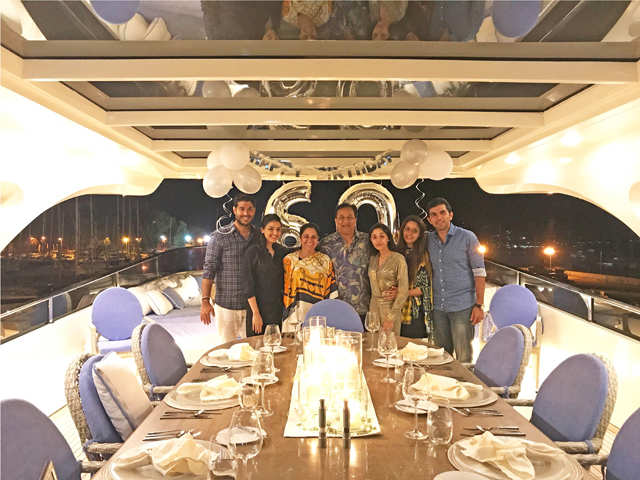 Birthday getaway: Yes Bank MD, Rana Kapoor, celebrated his 60th with family in Corsica