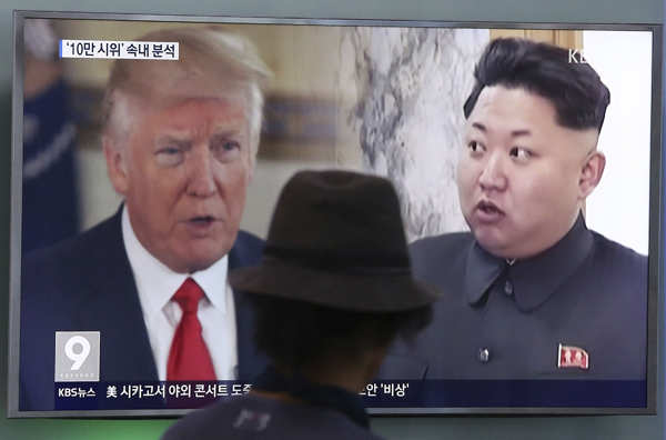 Trump fires back, Kim labels him deranged