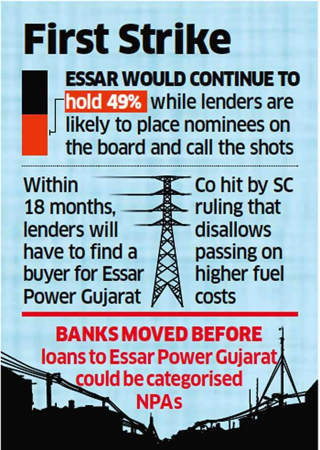 Lenders move to take control of Essar Power Gujarat