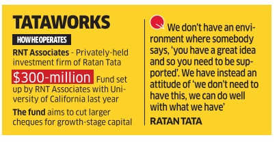 Indian startups are not disruptive enough compared to global companies: Ratan Tata