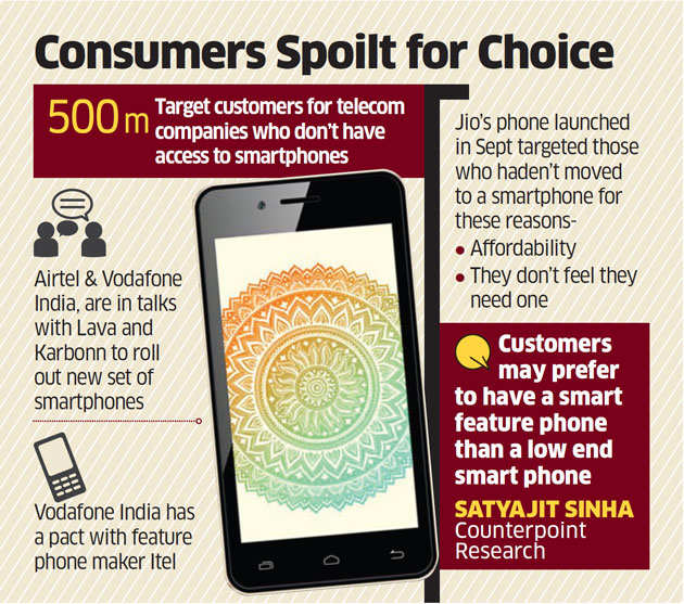 Idea, Vodafone may also offer 4G smartphones