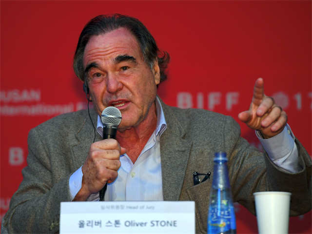 It's Oliver Stone's turn on the hot seat — Former Playboy model