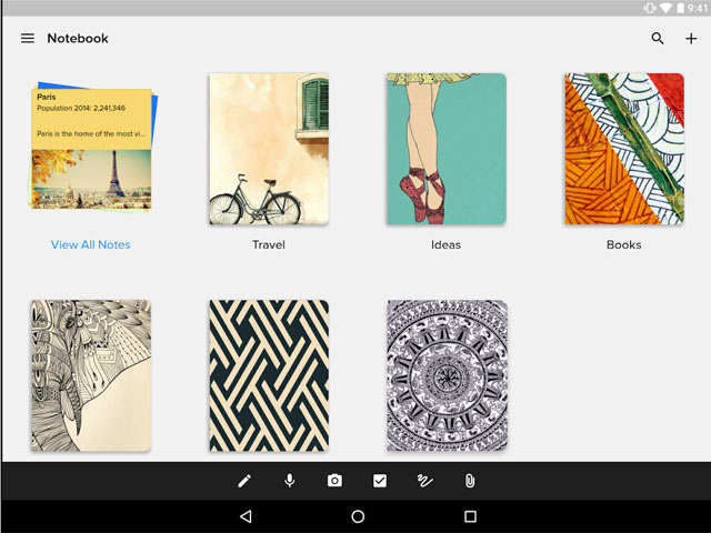 'Zoho Notebook' app lets you store card style notes