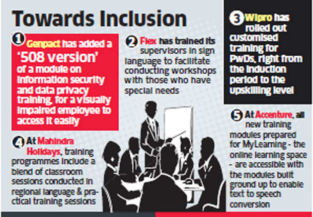 India Inc tailors training for differently-abled staff