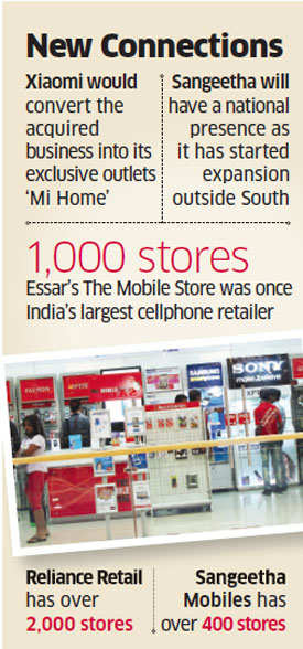 Xiaomi eyes outlets of The Mobile Store