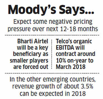 Indian telecom companies to see revenue dip, rest of Asia to grow: Moody's