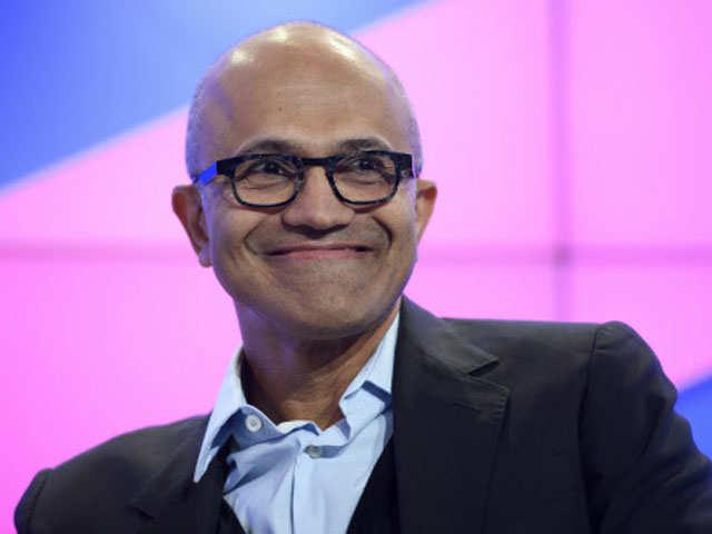 Microsoft CEO Satya Nadella interacts with employees in Hyderabad thumbnail