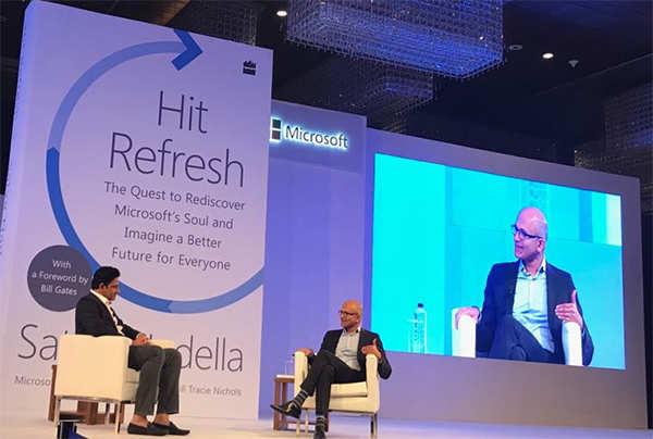 Kumble meets Satya Nadella - and it's cricket, AI, data mining on the agenda