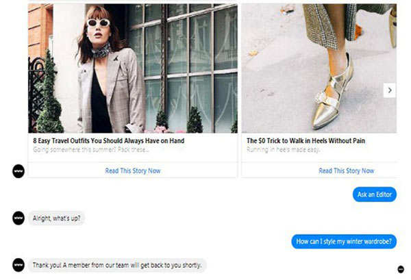 Don't know what to wear to work? Messenger's new bot will help you