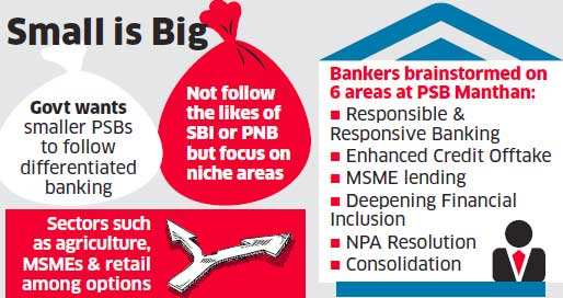 FinMin wants small state-run lenders to 'find niche', not ape large banks