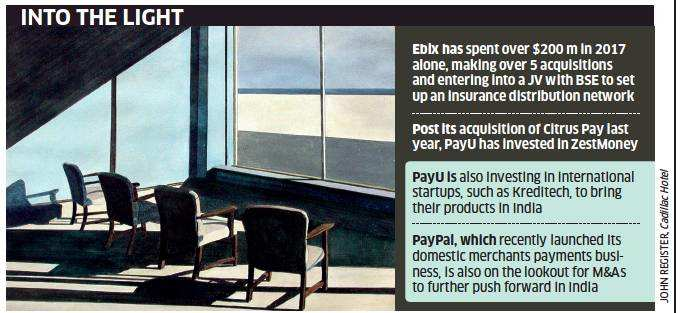 Global payment firms ready to cut more cheques in India - The