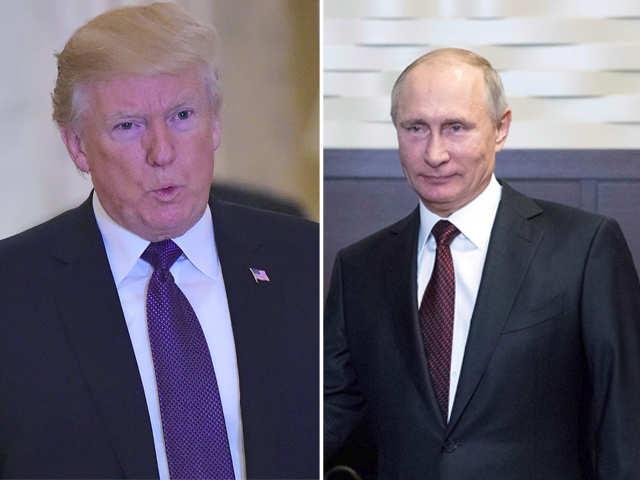 Donald Trump,Vladimir Putin reaffirm commitment to peacefully resolving
