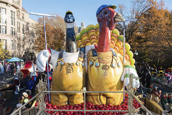 Balloons, bands, stars and heavy security at the 91st annual Macy's Thanksgiving parade