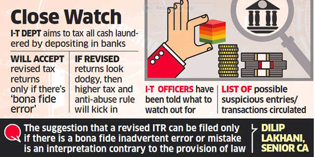 All revised I-T returns post demonetisation under lens