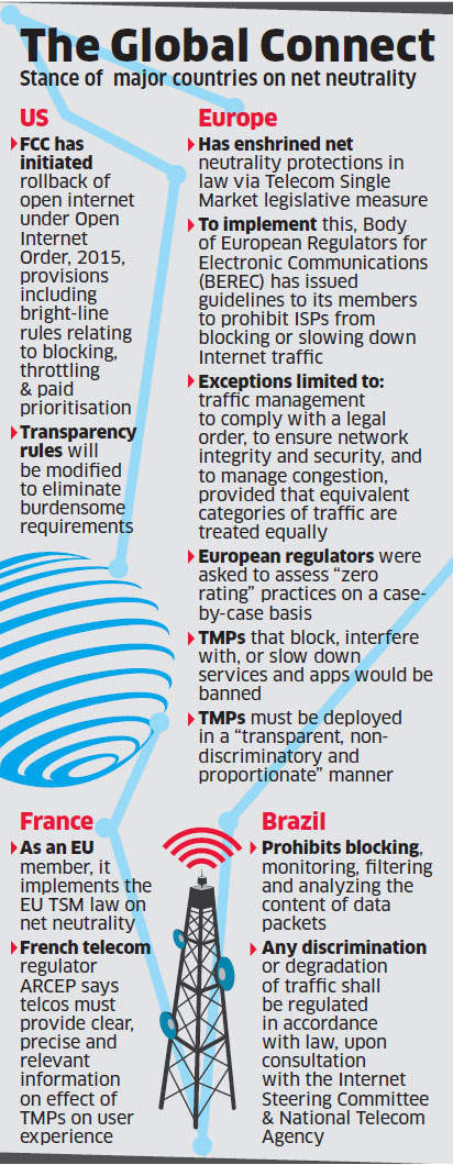 Telcos slam Trai views on net neutrality, term move to set up a monitoring body 'draconian'