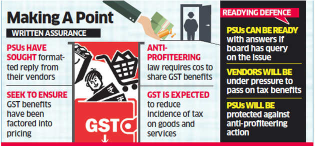 PSUs want vendors to meet anti-profiteering guidelines