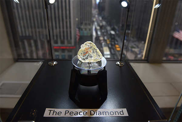 Massive 709-carat 'peace diamond' sells for $6.5M