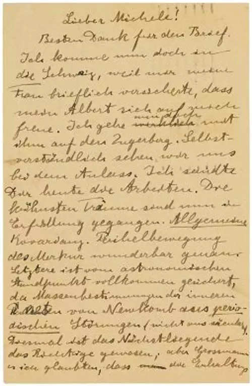 Albert Einstein's letter to close friend on relativity fetches $106,250 at auction