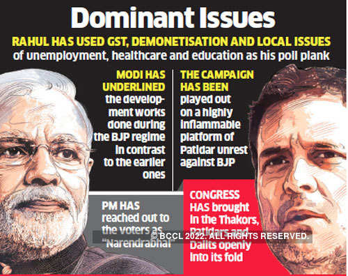 Gujarat polls 2017: First phase of campaign covers more national issues than that of state