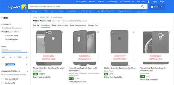 Flipkart faces 30-minute technical glitch on website