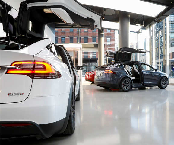 Tesla's new showroom in New York's Meatpacking District is a dream come true
