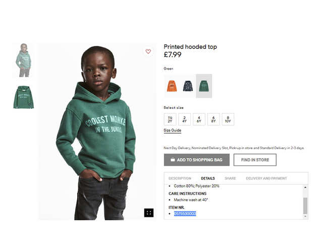 H&M condemns racism after `monkey' ad sparks protests
