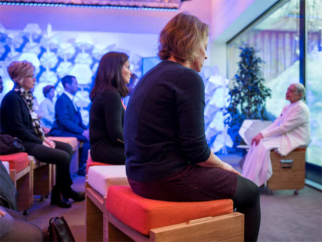 How meditation and creative mindfulness took centre stage in Davos