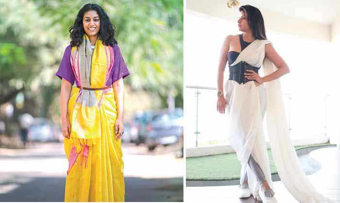 Drapes rebooted: Women give the good old saree a modern twist
