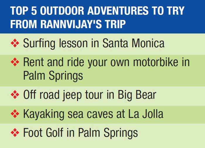 Adventure enthusiast Rannvijay's top experiences in California