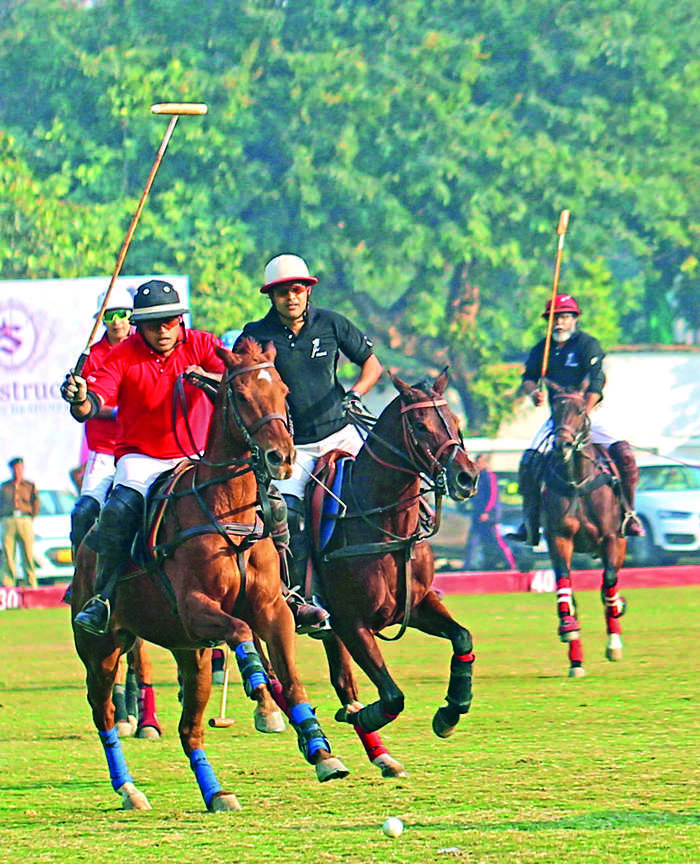 Siddharth Kasliwal bonds with clients over a game of polo