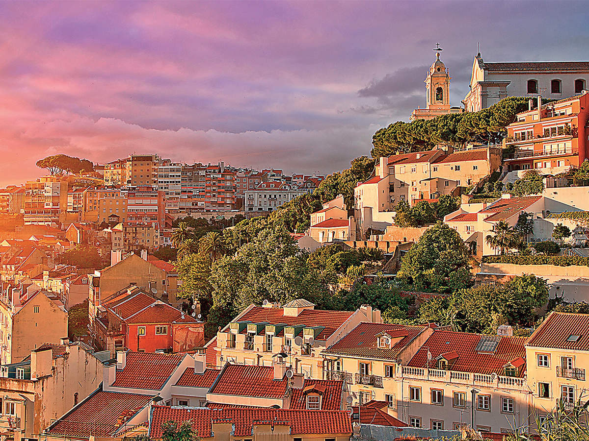 From red rooftops to blue azulejo tiles, Portugal's capital city revels in its splendid colours