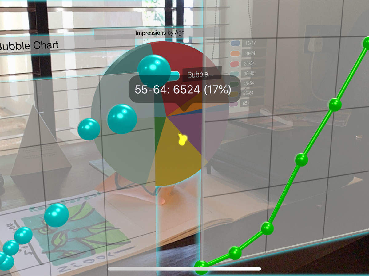 Graphmented review: The app makes charts more interesting with the use of AR