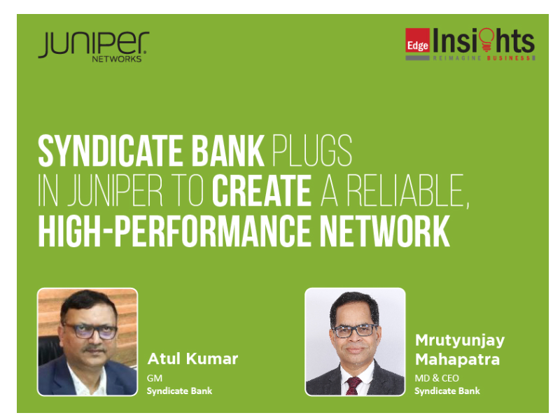 Syndicate Bank creates a reliable, high-performance enterprise network