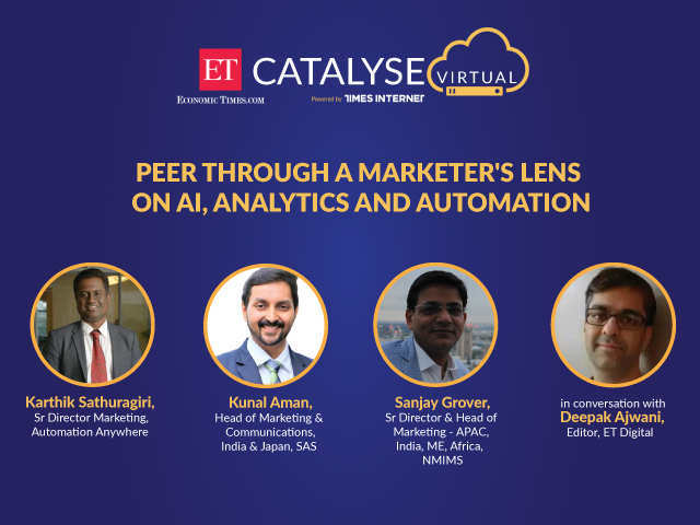 ET Catalyse (Virtual) episode 8: Peer Through A Marketer's Lens On AI, Analytics And Automation