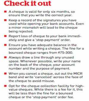 A cheque lost in transit: How to minimise your loss - The