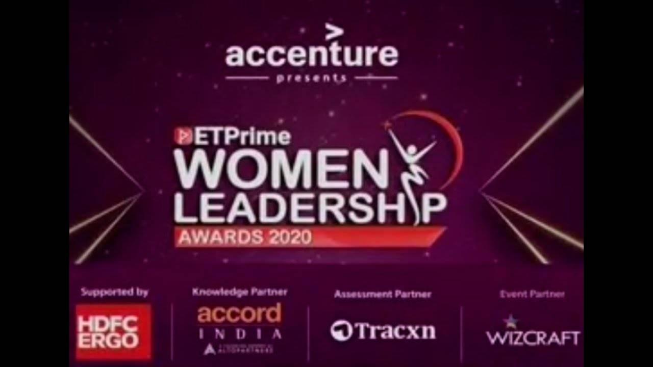 ETPWLA 2020   ETPrime Women Leadership Awards - Felicitation Ceremony on ET NOW