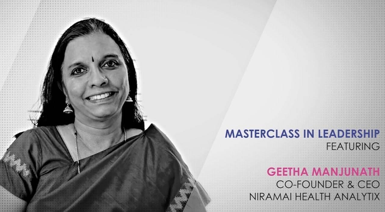 ETPWLA 2020: Leadership Masterclass with Geetha Manjunath, Niramai Health Analytix