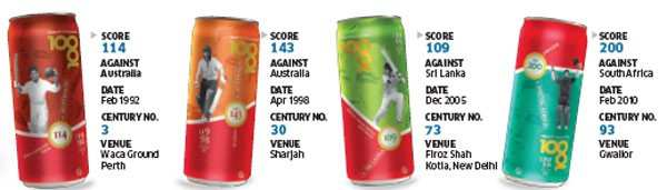 Tribute to Tendulkar: Coca-Cola to roll out 6.5 million 'Sachin' cans as part of 100th century celebrations
